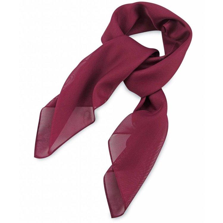 Polyester sjaal Bordeauxood 75x75cm