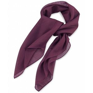 Polyester sjaal Aubergine 75x75cm
