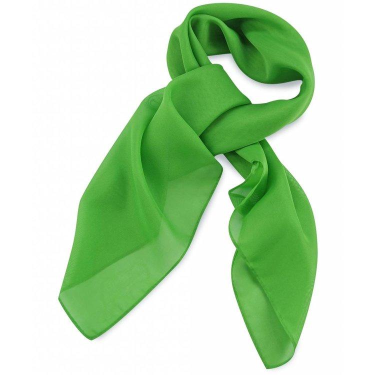 Polyester sjaal Appelgroen 75x75cm