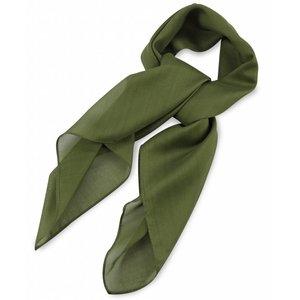 Polyester sjaal Legergroen 75x75cm