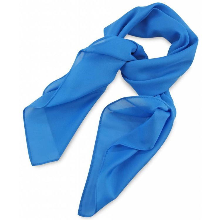 Polyester sjaal Processblue 75x75cm