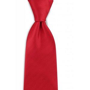Polyester stropdas uni repp Rood