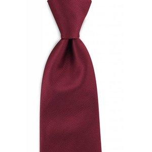 Polyester stropdas uni repp Bordeauxrood