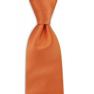 Polyester stropdas uni repp Oranje