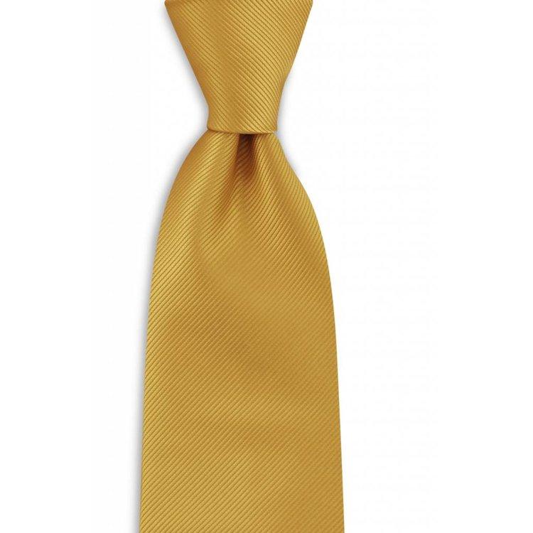 Polyester stropdas uni repp Geel