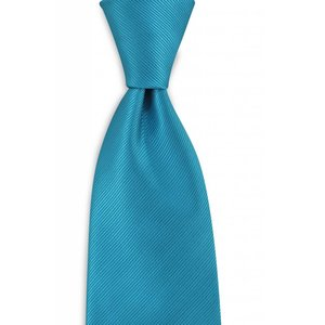 Polyester stropdas uni repp Turquoise