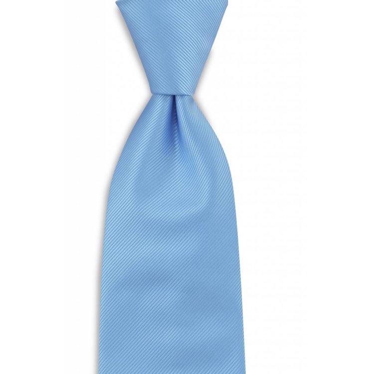 Polyester stropdas uni repp Lichtblauw