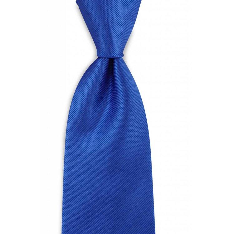 Polyester stropdas uni repp Kobaltblauw