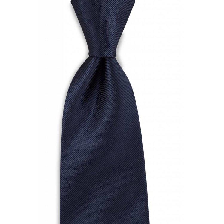 Polyester stropdas uni repp Marineblauw