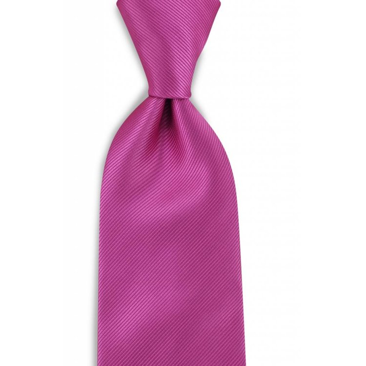 Polyester stropdas uni repp Fuchsia