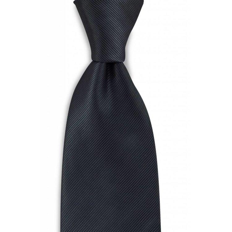 Polyester stropdas uni repp Zwart