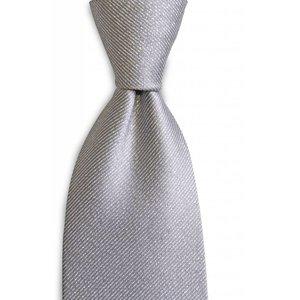 Polyester stropdas  Premium Zilver