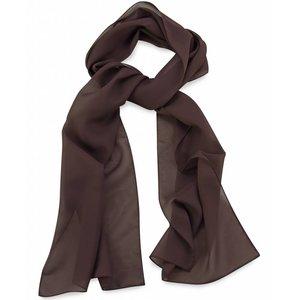 Polyester sjaal Bruin 30x140cm
