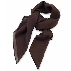 Polyester sjaal Bruin 75x75cm