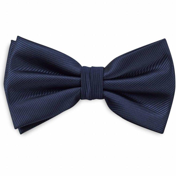 Polyester strik repp Marineblauw