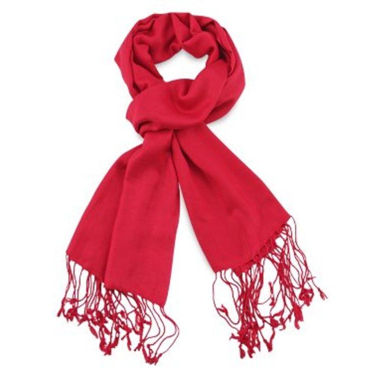 Pashmina sjaal Premium - Kleur Rood