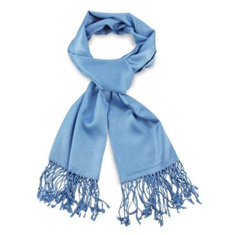 Pashmina sjaal Premium - Kleur Lichtblauw
