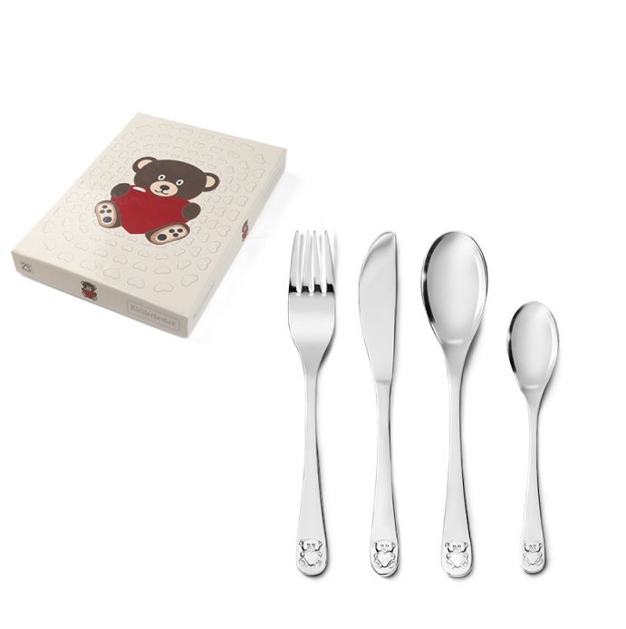 Children's cutlery set Bear with Heart 4-piece 682803