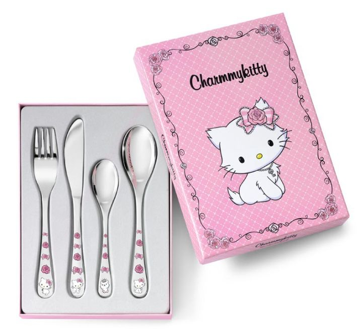 Zilverstad Charmmy Kitty Children's Cutlery 4-Piece 684603