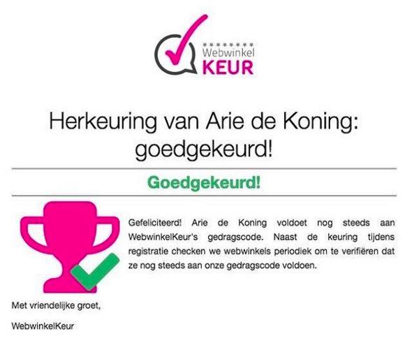Webshop: Juwelier Arie de Koning the Netherlands instagram