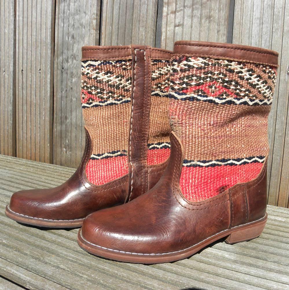 Handgemaakte Kelim boots