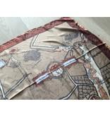 fabstyle Vintage zijden sjaal bruin