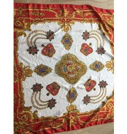 fabstyle Zijden sjaal rood VINTAGE