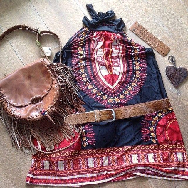 Ibiza, boho look met jurk & tas