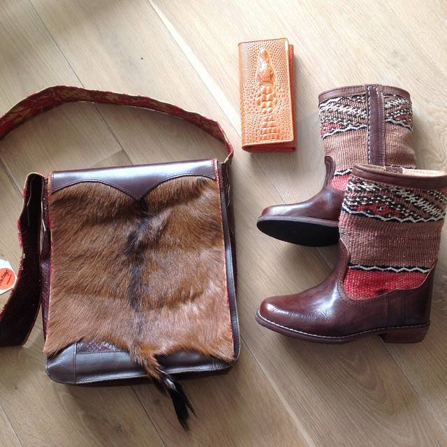 Kelim boots & Chick on a Mission bag