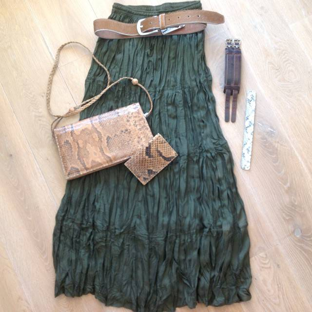 Army green & snake leather!