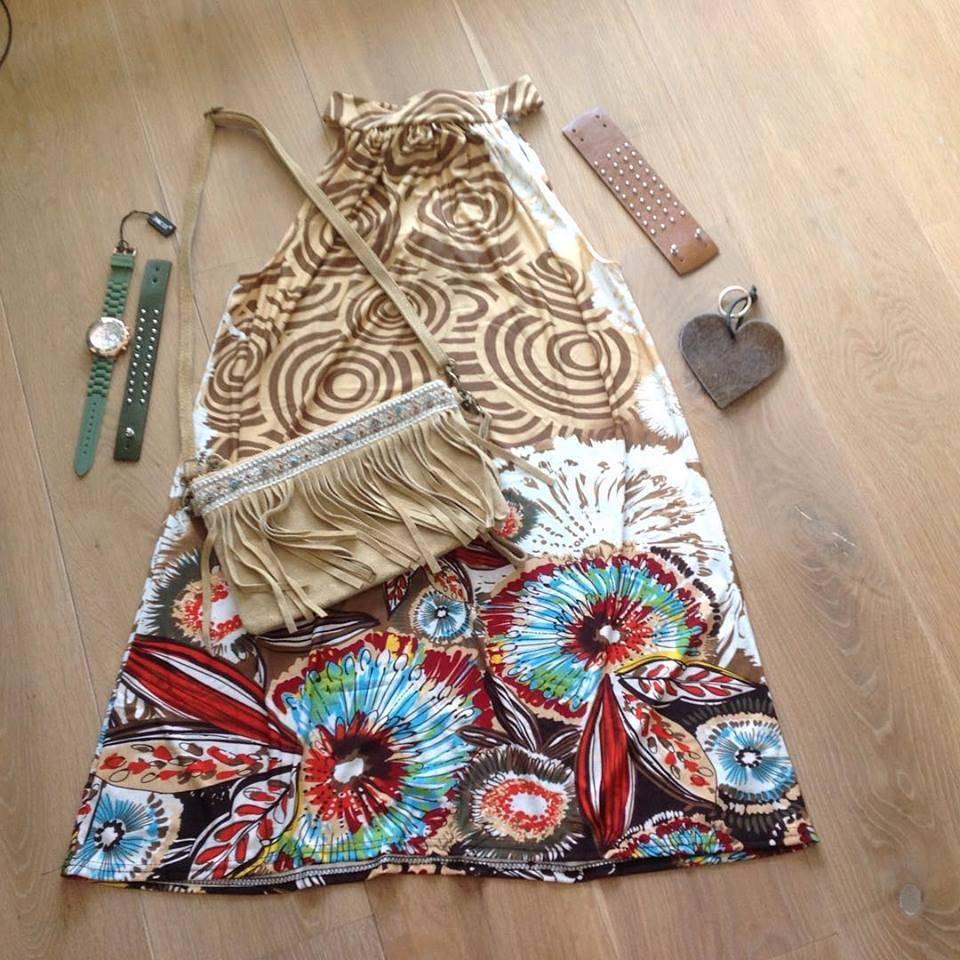 Ibiza, boho jurk & fringe tas