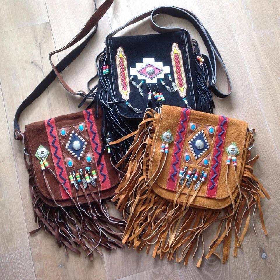 Handmade Ibiza, boho bag with fringes