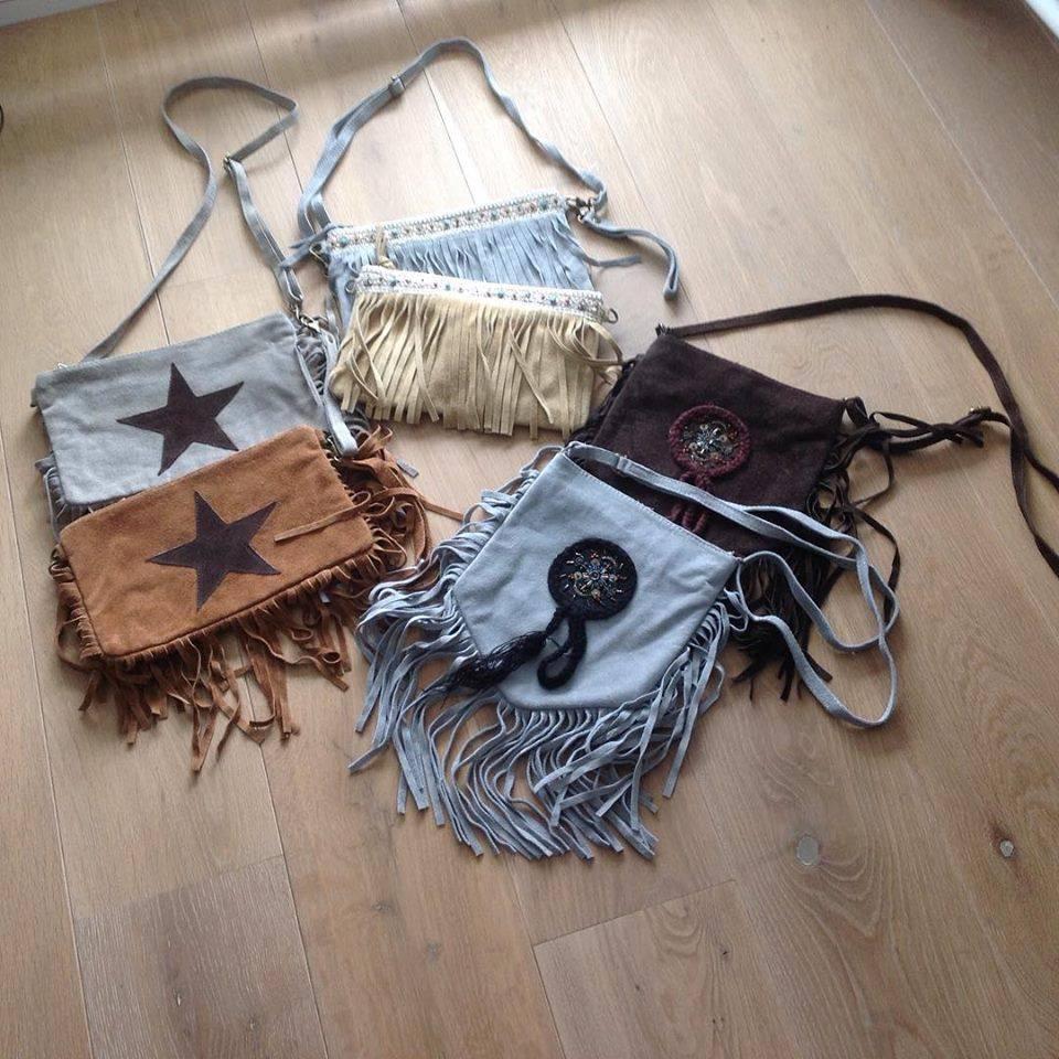Suede Ibiza, boho fringe bags