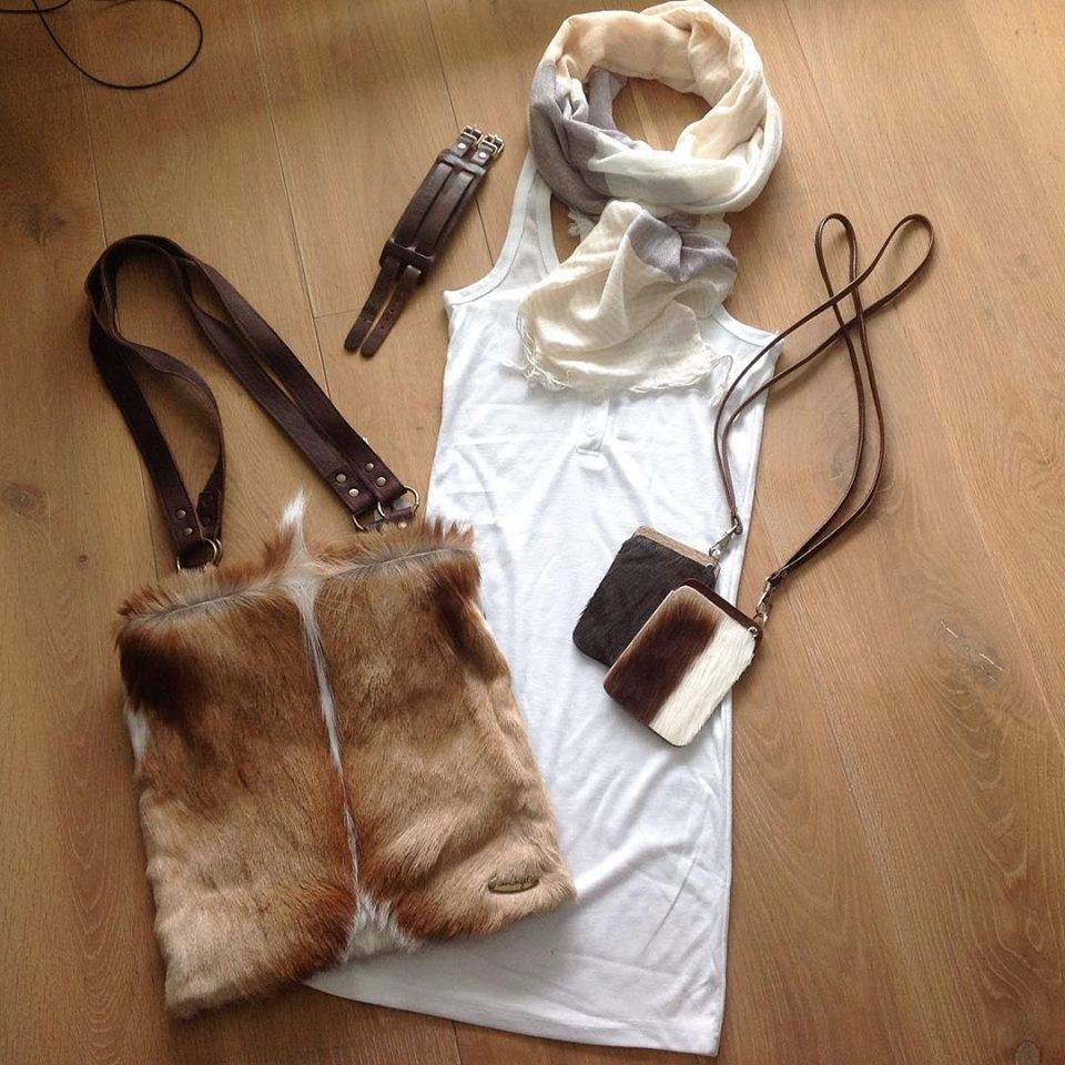 Fairtrade handmade springbok bag