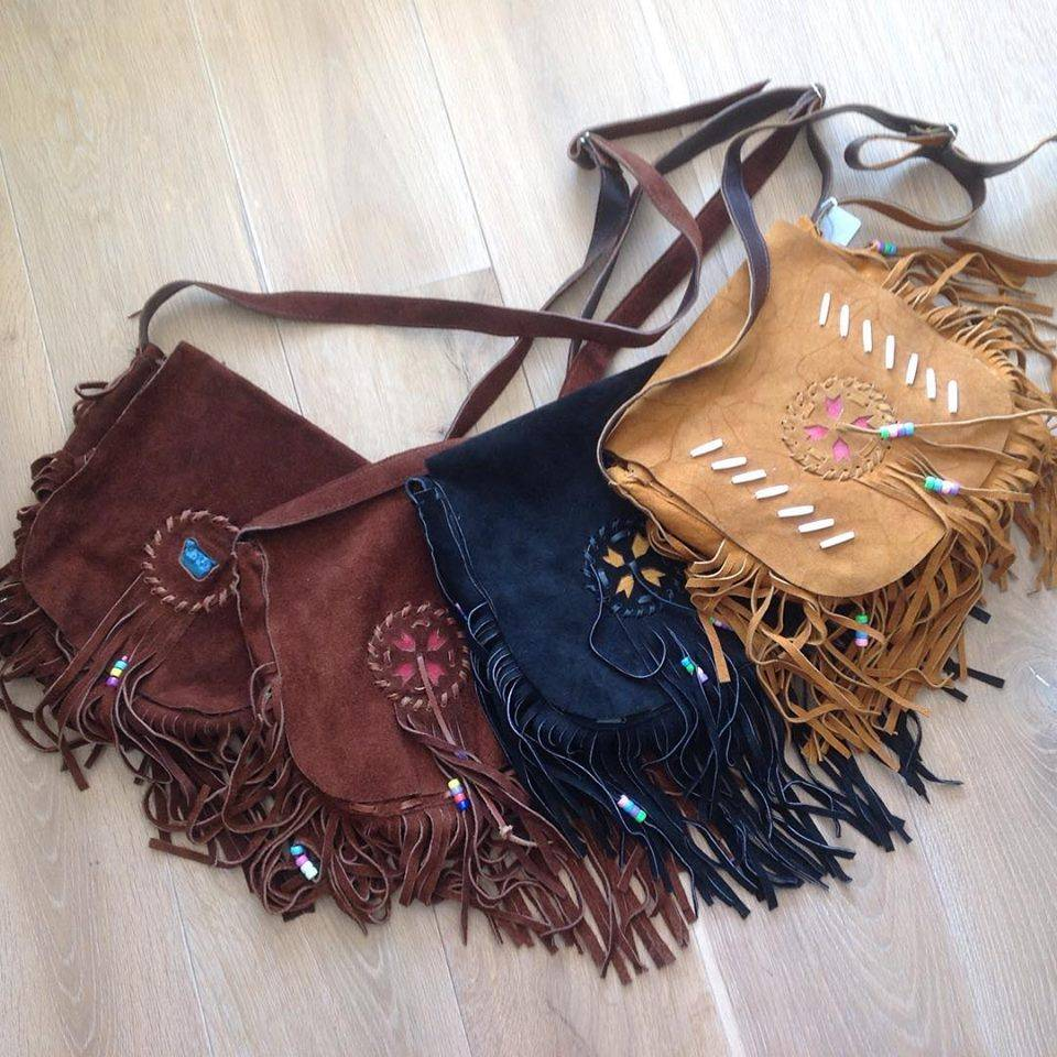 Handmade Indian, Ibiza bag with fringes