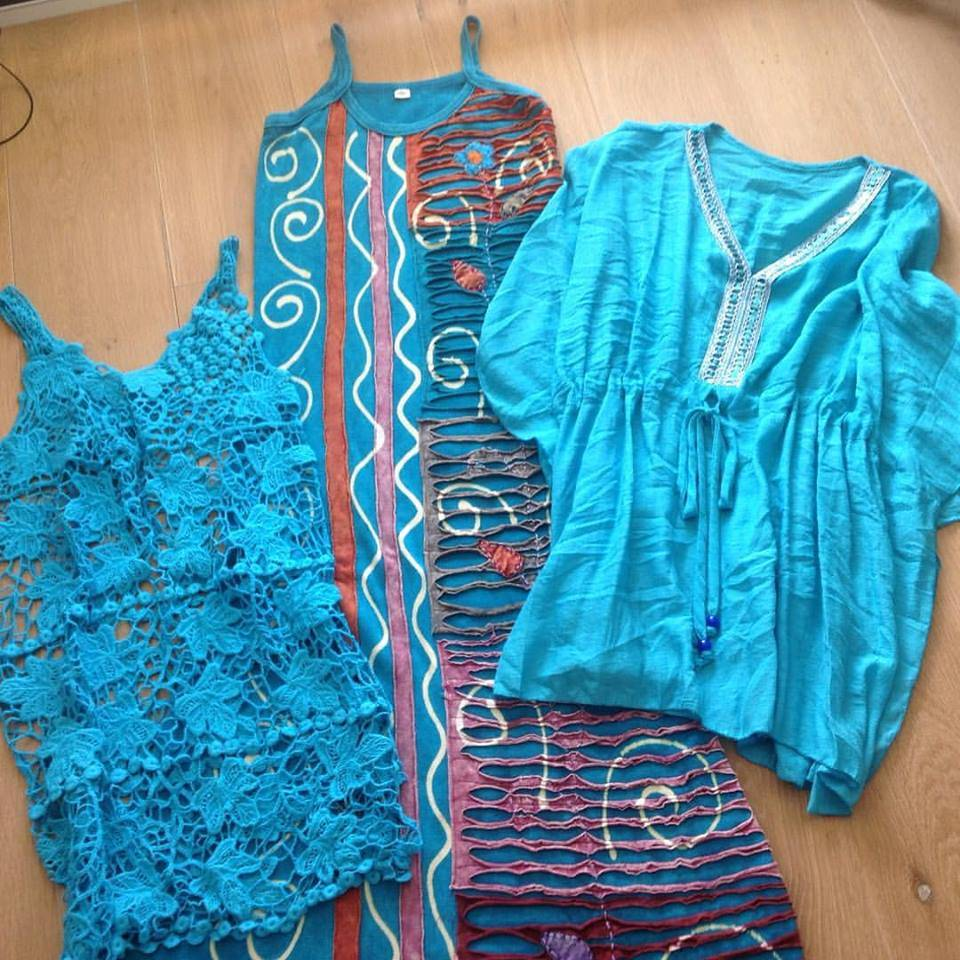 All turquoise dresses
