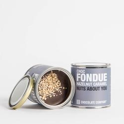 hazelnut caramel fondue