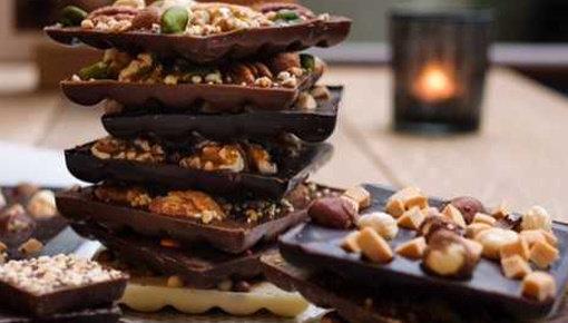Handmade, delicious chocolate bars