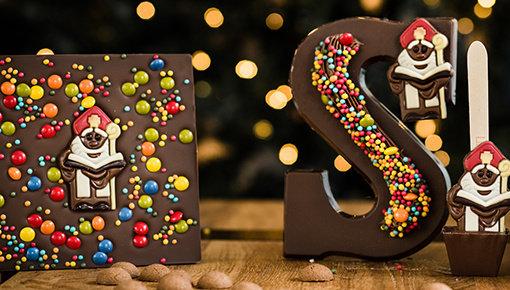 Vier Sinterklaas met de lekkerste ambachtelijke chocoladeletters!