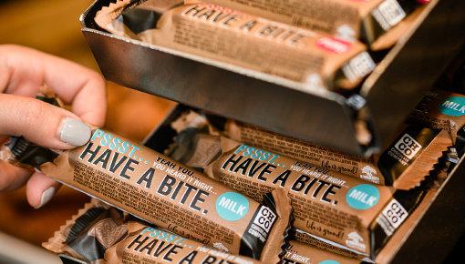 Een chocolade bedankje is altijd een goed idee!