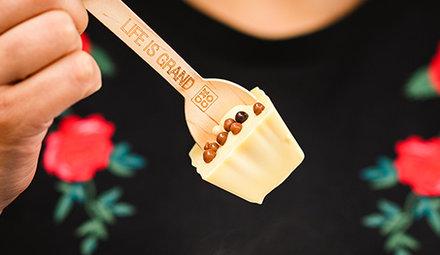 Weiße Schokolade Hotchocspoons