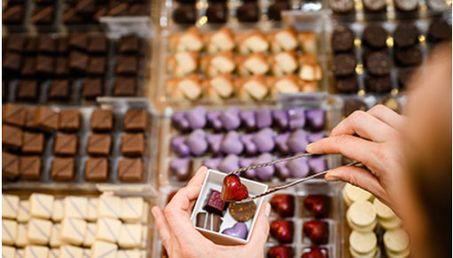 Handmade chocolates in various shapes and delicious flavors!