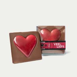 """LOVE CHOCBAR """"hart onder de riem"""""""