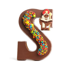 Luxe colourful chocoladeletter (250gr)