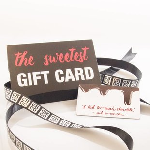 CHOCOLATE GIFT CARD FROM