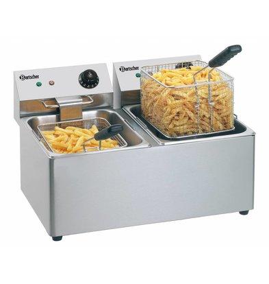 Bartscher Elektro Doppel Fritteuse - 2 x 8 Liter