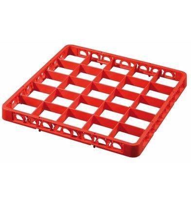 Bartscher Rahmen 25 Fächer, 45mm hoch, rot