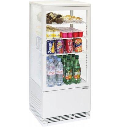Casselin Mini Kühlvitrine 78l weiß mit Innenbeleuchtung