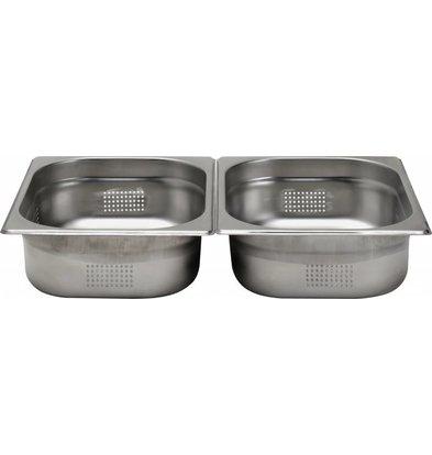 Hendi Gastronorm Behälter 1/2 perforiert - 65 mm