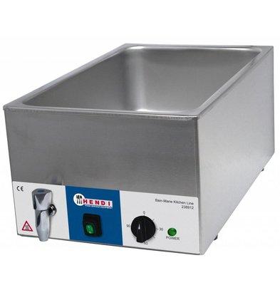 Hendi Bain-Marie 150mm Kitchen Line | mit Wasserhahn 230V 1200W